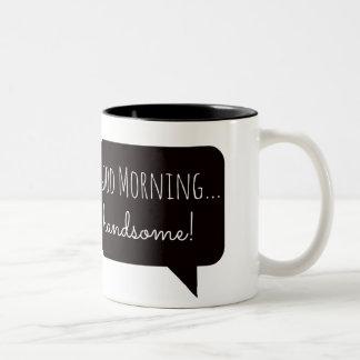 Tazas amistosas Buena mañana hermosa
