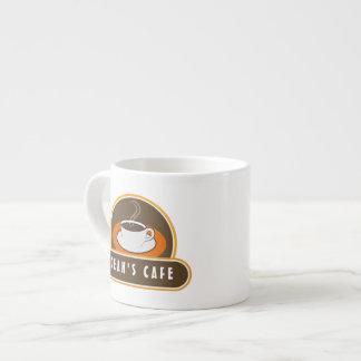 Tazas anaranjadas del café express del café de la taza espresso