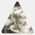tazas antiguas hermosas de China Calcomania De Triangulo Personalizadas