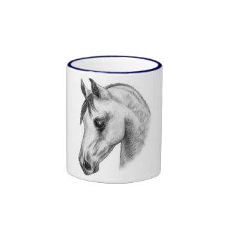 tazas árabes de la cabeza de caballo