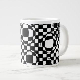 Tazas blancos y negros de la especialidad de las b taza grande
