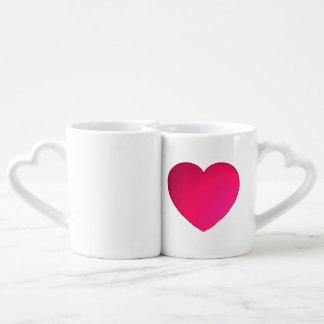 Tazas brillantes del amor del corazón del rojo taza para parejas