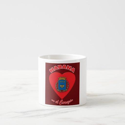Tazas cafe cubano expreso corazon de la habana espresso for Tazas para cafe espresso