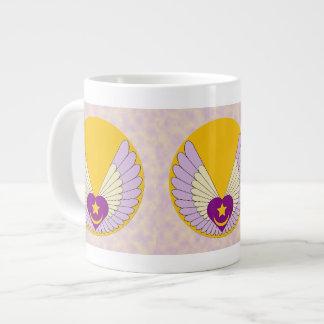 Tazas coas alas del personalizado del corazón de S Taza Grande