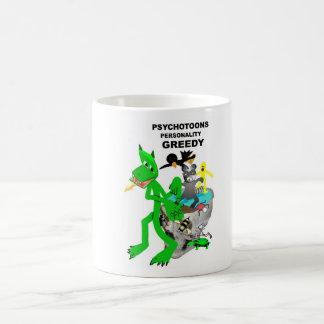 Tazas codiciosas de la personalidad de Psychotoons
