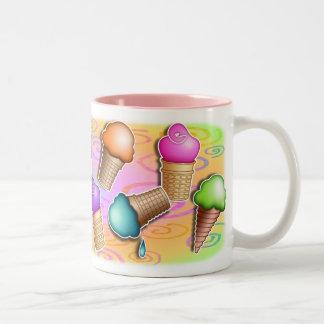 Tazas - conos de helado del arte pop