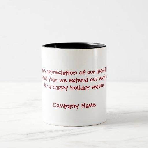 Tazas corporativas de los refranes y de Navidad de