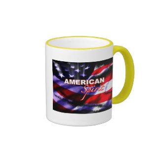 Tazas de café americanas de la motocicleta del