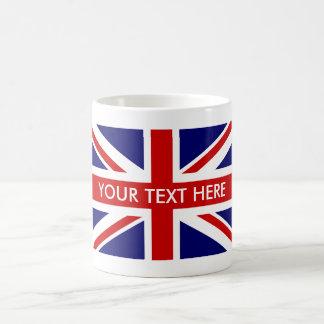 Tazas de café británicas de encargo de la bandera