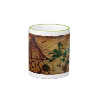 "tazas de café ""caseras"" agradables del arte"