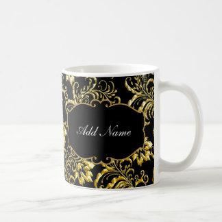 Tazas de café con clase del monograma
