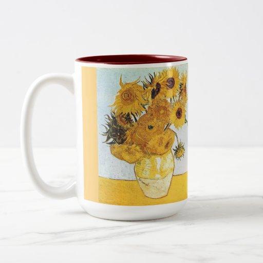 tazas de café de encargo--los girasoles de Van Gog