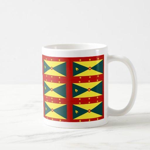 Tazas de café de la bandera de Grenada