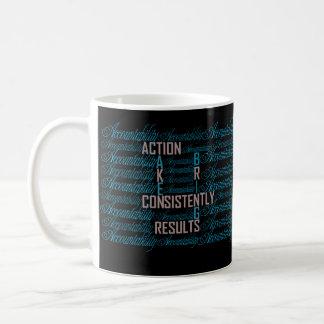 Tazas de café de la cita del arte de la palabra de