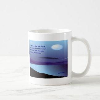 tazas de café de la confianza en uno mismo
