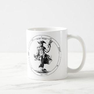 Tazas de café de la luna y de Mercury Luna y Mercu