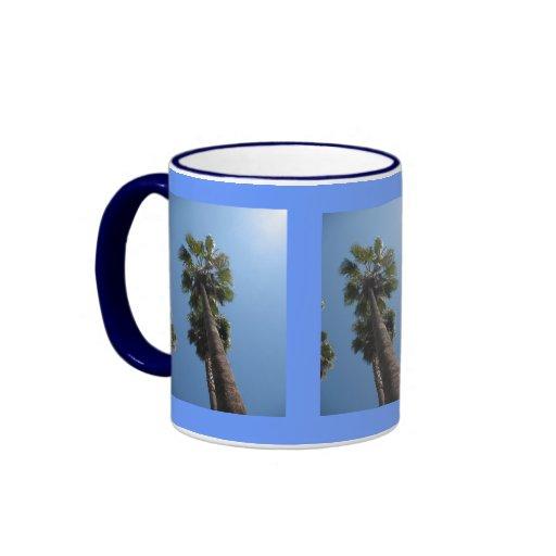 Tazas de café de la palmera