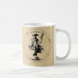 Tazas de café de la sepia de Mercury/de Luna