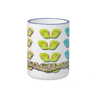 Tazas de café de los flips-flopes del vago de la p