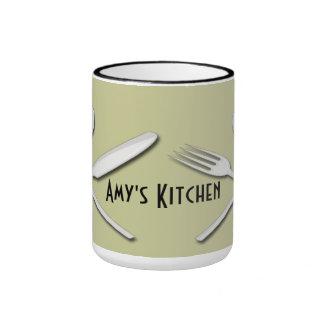 Tazas de café de los utensilios de la cocina