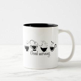 Tazas de café de Swirly de la buena mañana