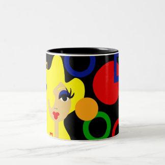 Tazas de café del arte pop de la diversión