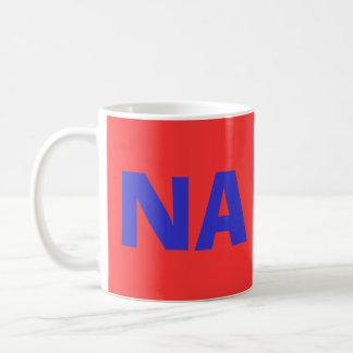Tazas de café del código de país del NA de