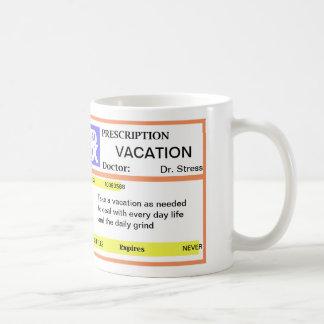 Tazas de café divertidas de la prescripción