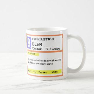 Tazas de café divertidas de la prescripción de la