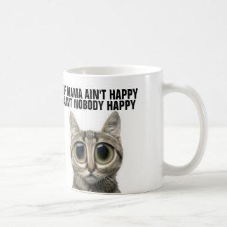 Tazas de café divertidas del gato para la madre,