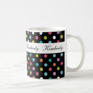 Tazas de café elegantes de moda del monograma