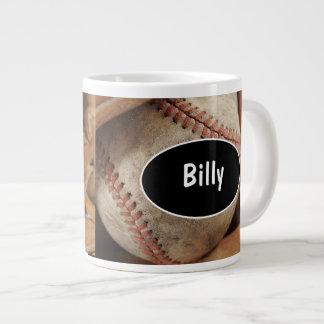 Tazas de café enormes del béisbol tazas extra grande