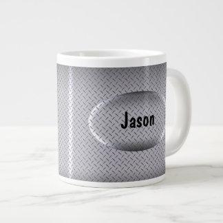 Tazas de café enormes del monograma de los individ taza extra grande