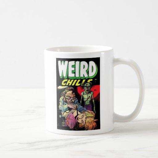 Tazas de café extrañas de las frialdades