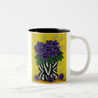 Tazas de café florales enrrolladas