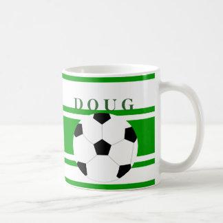 Tazas de café personalizadas del fútbol