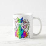 Tazas de café psicodélicas Trippy del gato
