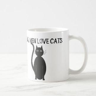 Tazas de café reales de los gatos del amor de los