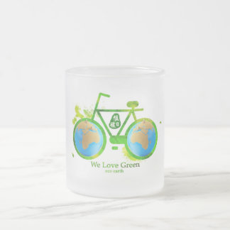Tazas de café verdes respetuosas del medio ambient