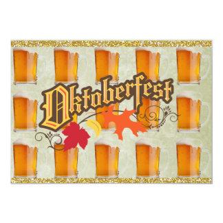 """Tazas de cerveza de Oktoberfest Invitación 5"""" X 7"""""""