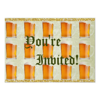 "Tazas de cerveza de Oktoberfest Prost Invitación 5"" X 7"""