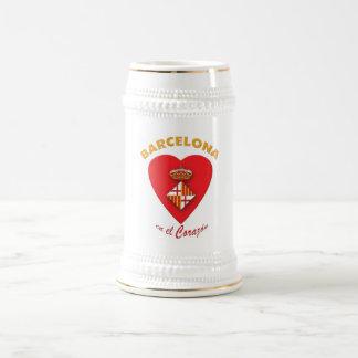 Tazas de cerveza del EL Corazón del en de Barcelon