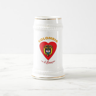Tazas de cerveza del EL Corazón del en de Colombia