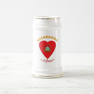 Tazas de cerveza del EL Corazón del en de Nicaragü