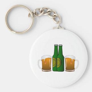 Tazas de cerveza llavero redondo tipo pin