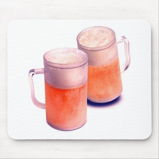 Tazas de cerveza tapete de ratones