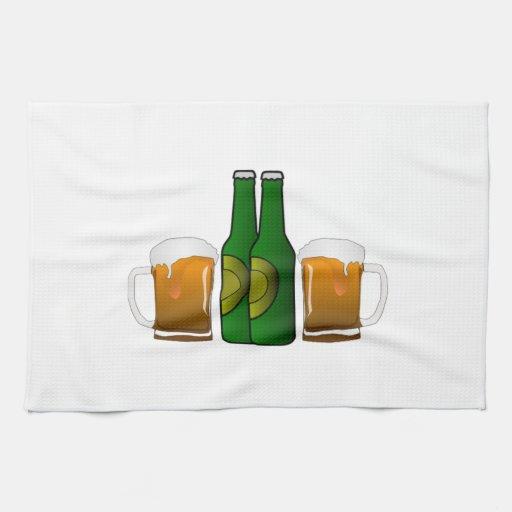 Tazas de cerveza toallas