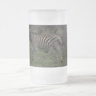 Tazas de consumición de la fauna africana de la