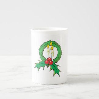 Tazas de encargo de la envoltura de la guirnalda taza de porcelana