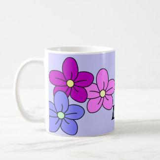 Tazas de encargo de la flor
